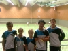 v.l.n.r: Carlos, Rosa, Tom, Tuong, Lars, 2. Regionalranglistenturnier in Herrenberg